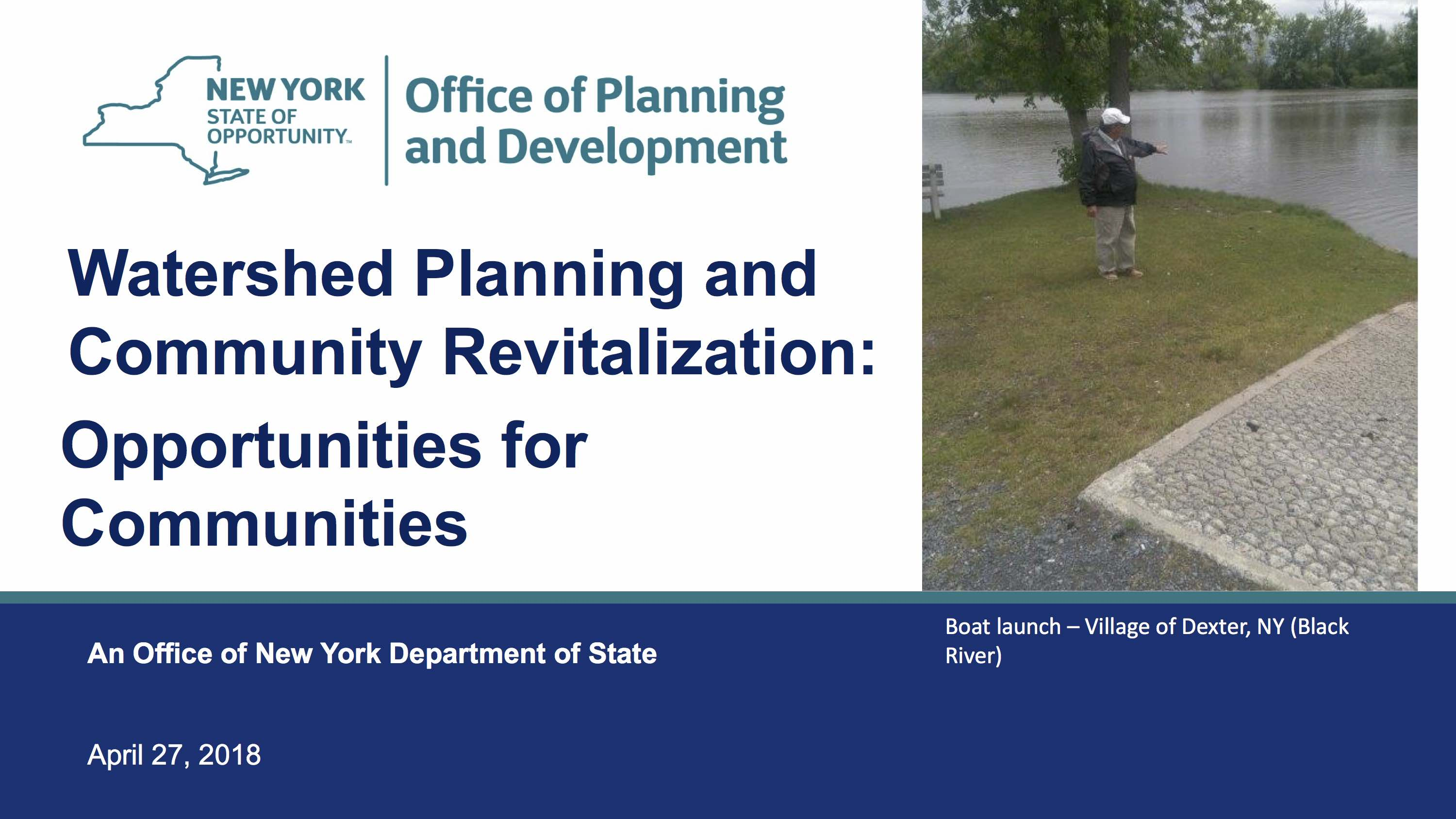 Stephanie Wojtowicz, NYSDOS Office of Planning and Development